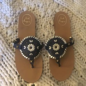 Jack Rodgers navy Georgica sandals